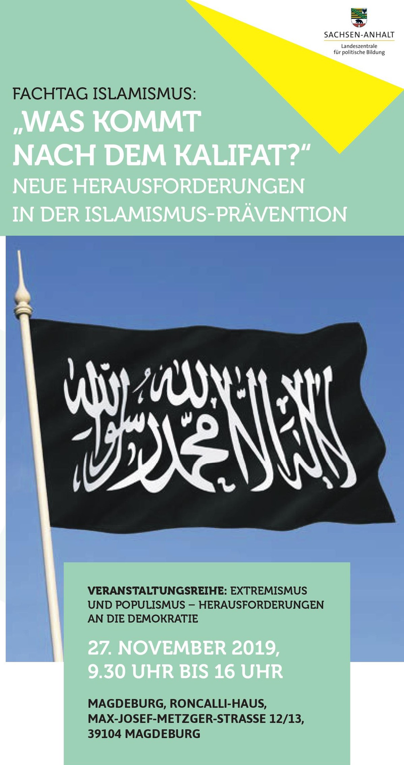 Flyer Fachtag Islamismus
