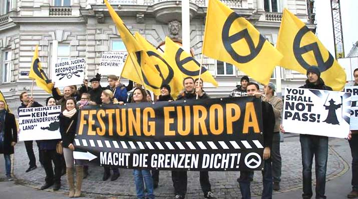 Demonstration der Identitären Bewegung in Wien